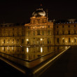 Louvre at Night, Paris France — Stock Photo