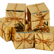 Christmas present boxes - Stock Photo