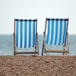 Chairs on the beach. Brighton, England — Stock Photo #9872676