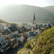 Stock Photo: Wine village at Rhine River, Germany