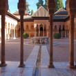 The Court of the Lions in Alhambra Palace, Granada Spain — Stock Photo #9875509