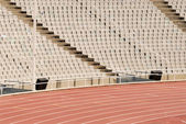 Seats in an empty stadium — Foto de Stock