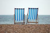 Chairs on the beach. Brighton, England — Stock Photo