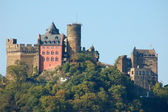 Castle at the Rhine River in Germany — Stock Photo