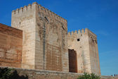 Castle Alcazaba, Part of Alhambra Palace in Granada, Spain — Stock Photo
