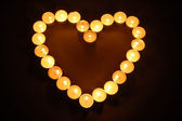 Candles heart shaped — Stockfoto