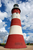 Smeatons Lighthouse on Plymouth Hoe — Stock Photo