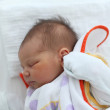 Newborn baby minutes after the birth — Stock Photo