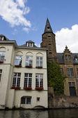比利时布鲁日,旧城建筑. — 图库照片