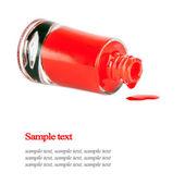 Botella de esmalte de uñas rojo — Foto de Stock