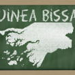 Outline map of guinea bissau on blackboard — 图库照片