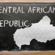 Outline map of central african republic on blackboard — Stockfoto