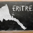 Outline map of eritrea on blackboard — Stock Photo