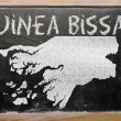Outline map of guinea bissau on blackboard — Foto de Stock
