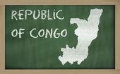 Outline map of congo on blackboard — Stock Photo