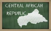 Carte muette de république centrafricaine sur tableau noir — Photo