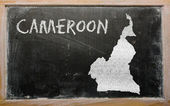 Outline map of cameroon on blackboard — Stok fotoğraf