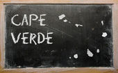 Outline map of cape verde on blackboard — Stock Photo