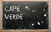 黑板上的佛得角大纲地图 — 图库照片