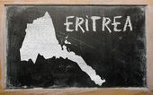 Outline map of eritrea on blackboard — Stock Photo