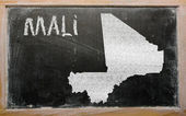 Outline map of mali on blackboard — Stock Photo