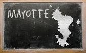 Overzicht kaart van mayotte op blackboard — Stockfoto