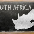 Outline map of south africa on blackboard — Stock Photo #10120951