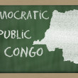 Outline map of congo on blackboard — Stok fotoğraf