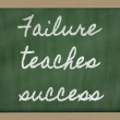 Expression - Failure teaches success - written on a school blac — Stock Photo