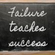 Expression -  Failure teaches success - written on a school blac — Stok fotoğraf