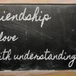 Expression - Friendship is love with understanding  - written on — Stok fotoğraf