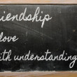 Expression - Friendship is love with understanding - written on — Stock Photo #10494043