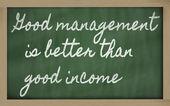 式 - 良い管理がより良い収入 - よです。 — Stock fotografie
