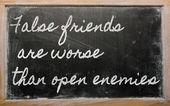 式 - 偽の友人書かれて - オープンの敵よりも悪化しています。 — ストック写真