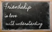 Expression - Friendship is love with understanding - written on — Stock Photo