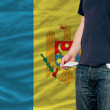 Recession impact on young man and society in moldova - Stock Photo