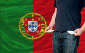 Recession impact on young man and society in portugal — Stock Photo