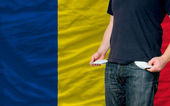Recession impact on young man and society in romania — Stock Photo