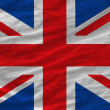 Complete waved national flag of united kingdom for background — Stock Photo