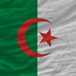 Complete waved national flag of algeria for background - Stock Photo