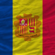 Complete waved national flag of andorra for background — Stock Photo