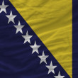 Complete waved national flag of bosnia herzegovina for backgroun — Stock Photo