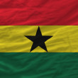 Complete waved national flag of ghana for background — Stock Photo