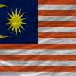 Complete waved national flag of malaysia for background — Stok fotoğraf