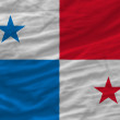 Complete waved national flag of panama for background — Stock Photo