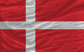 Complete waved national flag of denmark for background — Stock Photo
