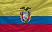 Complete waved national flag of ecuador for background — Stock Photo