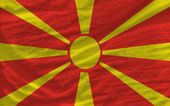 Complete waved national flag of macedonia for background — Stock Photo