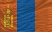 Complete waved national flag of mongolia for background — Stock Photo