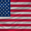 Complete waved national flag of america for background — Stock Photo